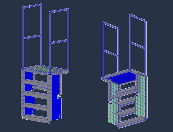 Abnehmbare Treppe für Wartungsarbeiten im Reaktorgebäude